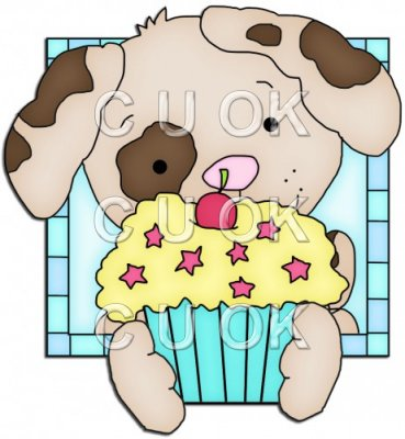 Doggy Squares Cupcake 3