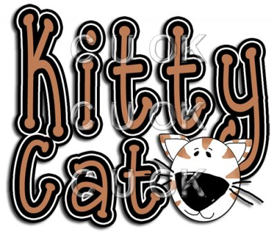 REF347 - Kitty Cat Word Art