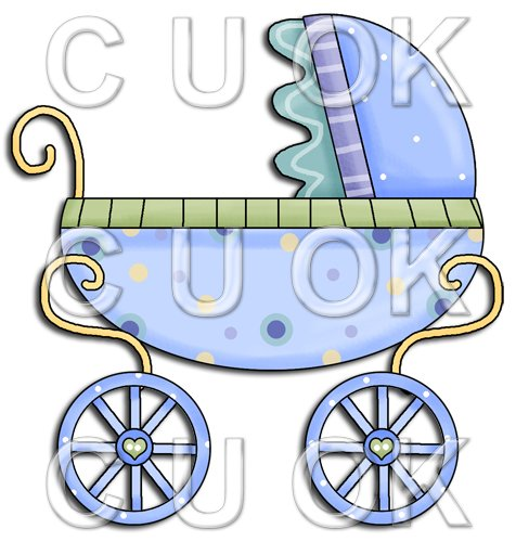 REF175 - Blue Baby Pram Stroller - Click Image to Close