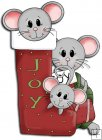 REF758- Christmas Mice In Stocking
