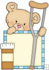 Peek A Boo Bears Medical Squares 3