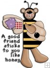 REF292 - Bumble Bee Bear Word Art