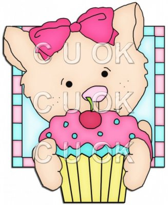 Doggy Squares Cupcake 2