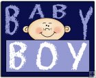 REF122 - Baby Boy Word Art