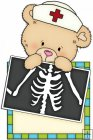 Peek A Boo Bears Medical Squares 8