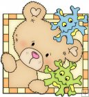 Peek A Boo Bears Medical Squares 5
