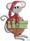 REF783- Christmas Mouse With Present