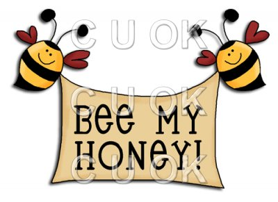 REF630 - Bee Mine Be My Honey Word Art