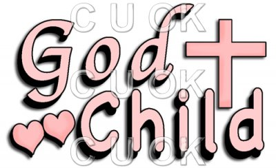 REF508 - Holy Communion Christening Pink God Child Word Art