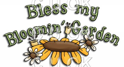 REF594 - Bear Garden Bless My Bloomin Garden Word Art