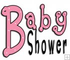 REF130 - Baby Shower Pink Word Art