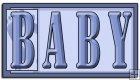REF134 - Blue Baby Word Art
