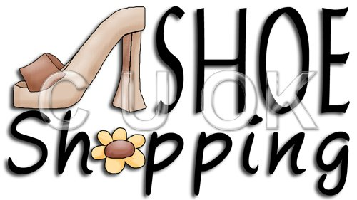REF18 - Shoe Shopping Word Art - Click Image to Close