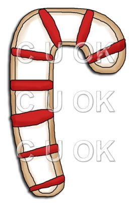 REF664 - Christmas Candy Cane Cookie