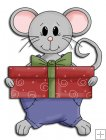 REF767 - Christmas Mice With Present