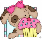Doggy Squares Cupcake 9