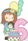 Little Gretchen Birthday Numbers 6