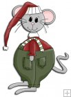 REF786- Christmas Mouse With Red Hat