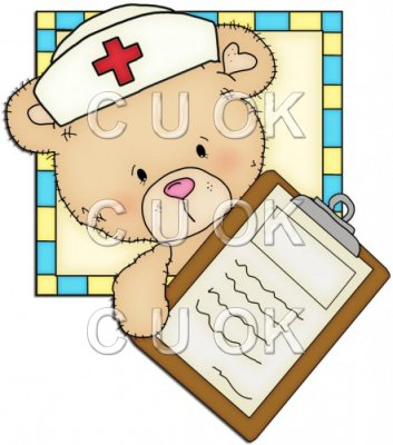 Peek A Boo Bears Medical Squares 7
