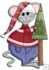 REF790 - Christmas Mouse With Tree