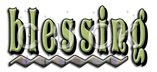 REF149 - Blessing Word Art - Click Image to Close