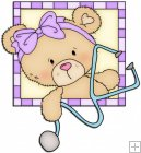 Peek A Boo Bears Medical Squares 1