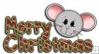 REF756- Merry Christmas Mice