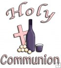 REF514 - Holy Communion Christening Pink Word Art