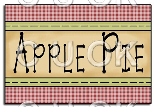 REF98 - Apple Pie Word Art - Click Image to Close