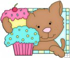 Doggy Squares Cupcake 8