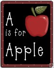 REF92 - A Is For Apple Black Board