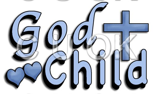 REF507 - Holy Communion Christening Blue God Child Word Art - Click Image to Close