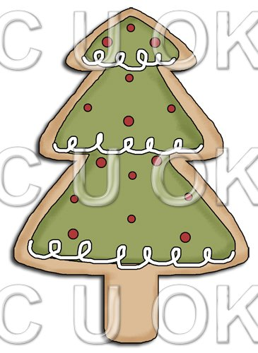 REF677 - Christmas Tree Cookie - Click Image to Close