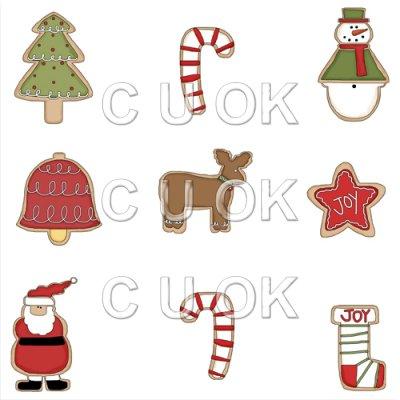 REF662 - Christmas Cookie Background Tile