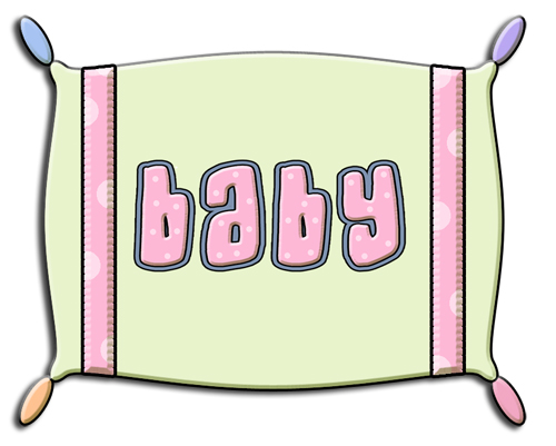 Ref126 Green Baby Pillow 017 Commercial Use Clip Art